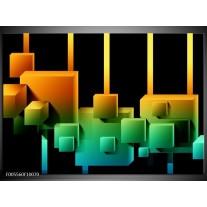 Foto canvas schilderij Art | Zwart, Groen, Oranje