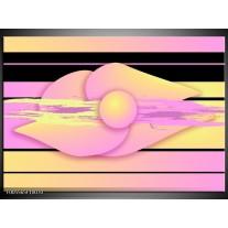 Foto canvas schilderij Art   Paars, Geel, Zwart
