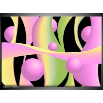 Foto canvas schilderij Art | Zwart, Groen, Paars