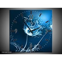 Wandklok op Canvas Art   Kleur: Blauw, Wit   F005580C