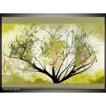 Foto canvas schilderij Bomen | Groen, Zwart