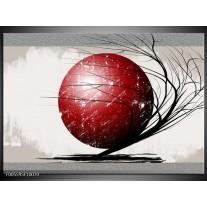 Foto canvas schilderij Art | Rood, Zwart, Grijs