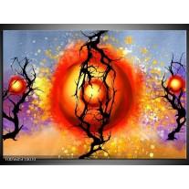 Foto canvas schilderij Art | Rood, Zwart, Paars