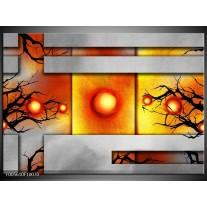 Foto canvas schilderij Art | Grijs, Zwart, Oranje