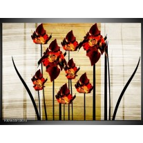 Foto canvas schilderij Tulp | Oranje, Zwart, Bruin