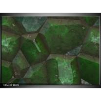 Foto canvas schilderij Art | Groen, Zwart