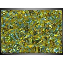 Foto canvas schilderij Art | Groen, Geel, Blauw