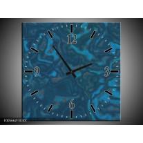 Wandklok op Canvas Art   Kleur: Blauw   F005662C