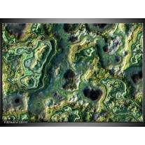 Foto canvas schilderij Art | Groen, Geel, Zwart