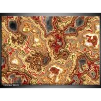 Foto canvas schilderij Art | Rood, Bruin, Geel