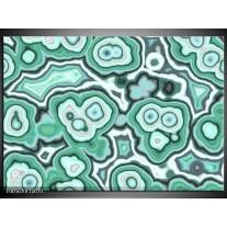 Foto canvas schilderij Art | Groen, Zwart, Wit