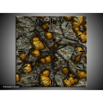 Wandklok op Canvas Art   Kleur: Geel, Grijs, Zwart   F005685C