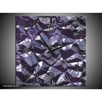Wandklok op Canvas Art   Kleur: Paars, Wit   F005686C