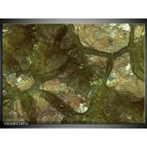 Foto canvas schilderij Art | Groen, Goud