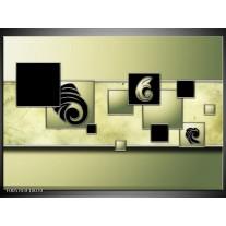 Foto canvas schilderij Vierkant | Zwart, Groen
