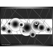 Foto canvas schilderij Cirkel | Zwart, Wit