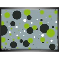 Foto canvas schilderij Cirkel | Grijs, Zwart, Groen