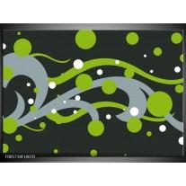 Foto canvas schilderij Art | Groen, Grijs