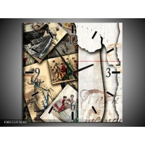 Wandklok op Canvas Foto's | Kleur: Bruin, Sepia | F005722C