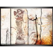 Foto canvas schilderij Angel | Creme, Wit