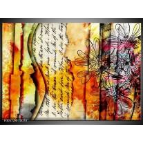 Foto canvas schilderij Art | Geel, Oranje