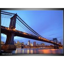 Foto canvas schilderij New York | Blauw