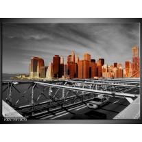 Foto canvas schilderij New York   Oranje, Grijs, Zwart