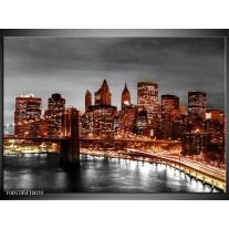 Foto canvas schilderij New York | Bruin, Zwart