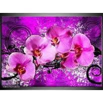 Foto canvas schilderij Orchidee | Paars