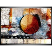 Foto canvas schilderij Cirkel | Bruin, Creme, Goud