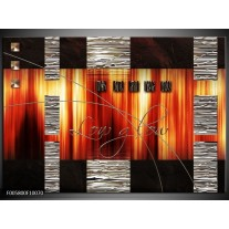 Foto canvas schilderij Modern | Oranje, Rood, Geel