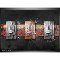 Foto canvas schilderij Modern | Grijs, Zwart