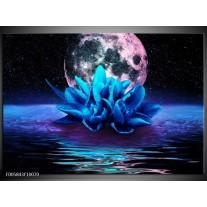 Foto canvas schilderij Modern | Blauw, Roze
