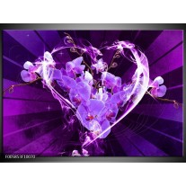 Foto canvas schilderij Orchidee   Paars, Roze