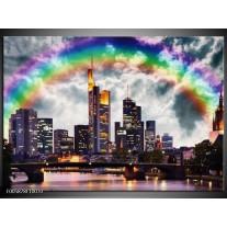 Foto canvas schilderij Wolkenkrabber   Grijs, Zwart