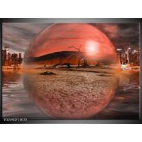 Foto canvas schilderij Art | Rood, Grijs