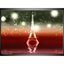 Foto canvas schilderij Eiffeltoren   Rood, Grijs