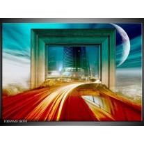 Foto canvas schilderij Gebouw | Rood, Blauw, Groen