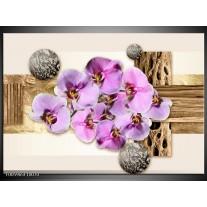 Foto canvas schilderij Orchidee | Roze, Wit, Bruin