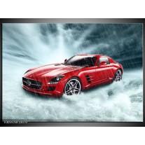 Foto canvas schilderij Mercedes | Wit, Rood, Zwart