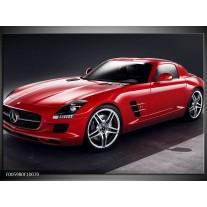 Foto canvas schilderij Mercedes | Rood, Zwart