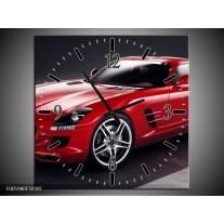 Wandklok op Canvas Mercedes   Kleur: Rood, Zwart   F005980C