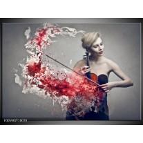 Foto canvas schilderij Muziek   Rood, Grijs