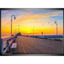 Foto canvas schilderij Vakantie | Geel, Blauw, Oranje