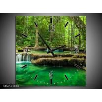 Wandklok op Canvas Natuur | Kleur: Groen | F005994C