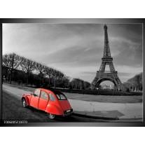 Foto canvas schilderij Parijs | Grijs, Rood