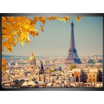 Foto canvas schilderij Parijs | Oranje, Bruin