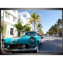 Foto canvas schilderij California | Groen, Blauw, Wit