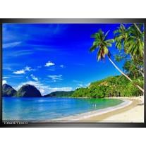 Foto canvas schilderij Vakantie | Blauw, Groen