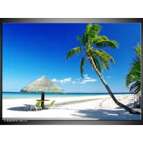Foto canvas schilderij Zee | Blauw, Groen, Wit